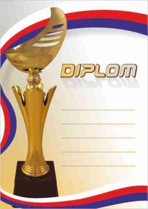 Diplom DL142 s pohárem
