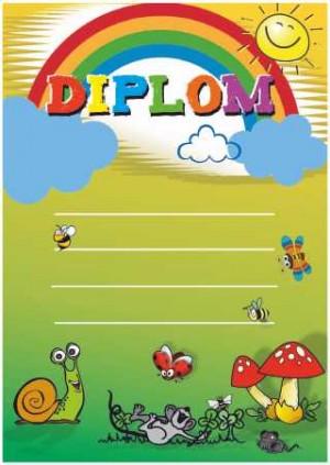 Diplom DL148 - dětský duha