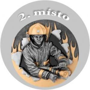 Emblém barevný EM38 hasič 2.místo