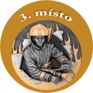 Emblém barevný EM39 hasič 3.místo