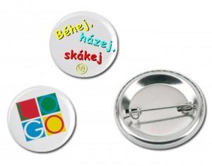 Button se špendlíkem BS58 - průměr 58mm