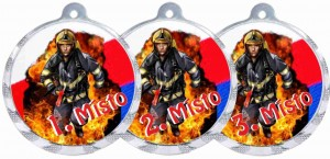 Medaile MA205 Hasič trikolóra