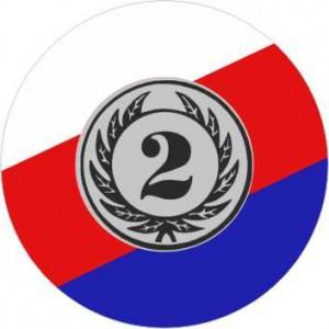 Emblém barevný EM302 - česká trikolóra '2'