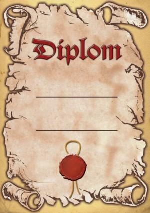 Diplom DL131 Diplom s pečetí