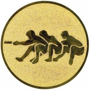 Emblém E63 přetahování lanem