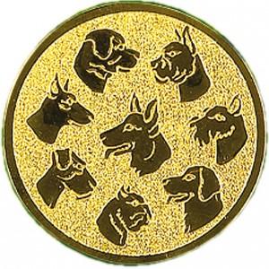 Emblém E68 pes - hlavy