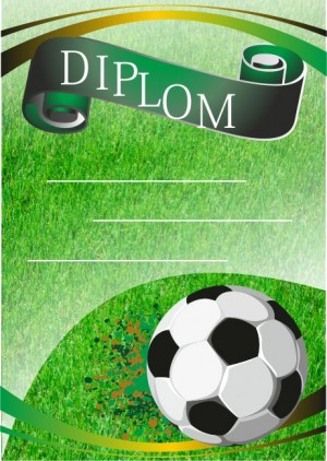 Diplom DL104 - fotbal