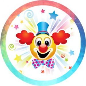 Emblém barevný EM153 veselý klaun