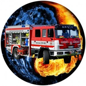 Emblém barevný EM34 hasičské auto