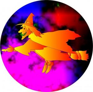 Emblém barevný EM154 čarodějnice