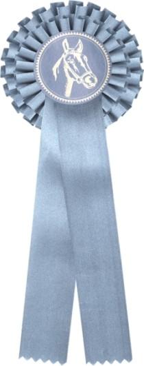 Kokarda dvouřadá K2 šedá