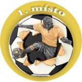 Emblém barevný EM27 fotbal 1.místo
