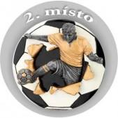 Emblém barevný EM28 fotbal 2.místo