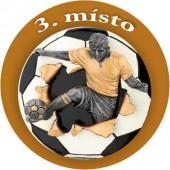 Emblém barevný EM29 fotbal 3.místo