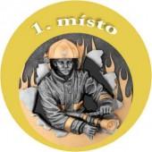 Emblém barevný EM37 hasič 1.místo