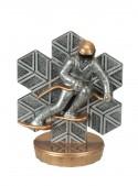 Figurka k trofeji U44 - lyžař sjezd