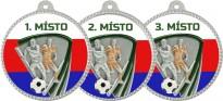 Medaile MA208 Fotbal trikolóra