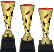 Sportovní fotbalový pohár PE089 zlato/červený
