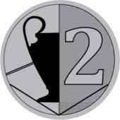 Sportovní barevný emblém EM402