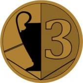 Sportovní barevný emblém EM403