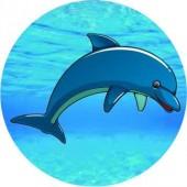 Emblém barevný EM157 -Delfín