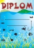Diplom DL145 -  dětský rybářský