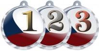 Sportovní medaile MA227 česká trikolóra