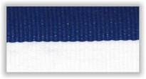 Stuha s karabinou V8BM - bílá/modrá úzká