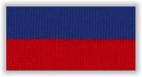 Stuha s karabinou V8CM - červená/modrá úzká