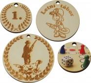 Medaile dřevěné kulaté DM4,DM6,DM8
