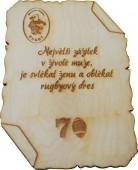 Sportovní dřevěná plaketa DP01