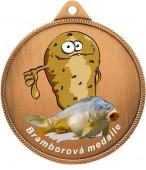 Medaile MA245 rybářská, bramborová