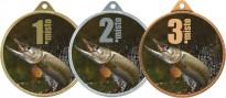Medaile MA238 rybářská, štika