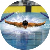 Emblém barevný EM81 - plavání