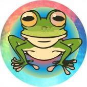 Emblém barevný EM151 - žába